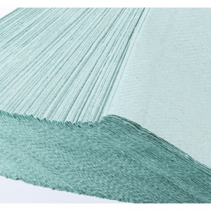 Бумажные полотенца листовые, макулатурные, зеленые, эконом Р102
