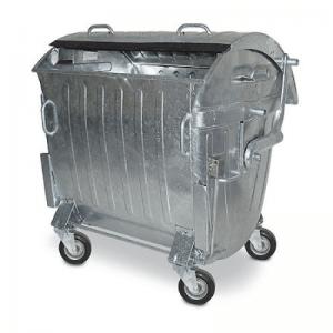 Металевий оцинкований контейнер 1100 літрів