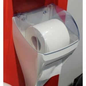 Держатель туалетной бумаги+щетка для унитаза DUO LINEA SKIN(белый)
