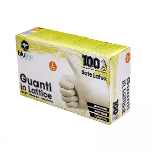 Перчатки латексные  припудренные 100шт  SAFE LATEX