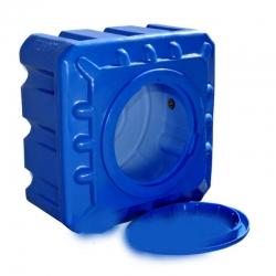 Емкость 100л квадратная, двухслойная, синяя