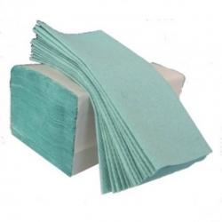 Бумажные полотенца листовые, макулатурные, зеленые M102