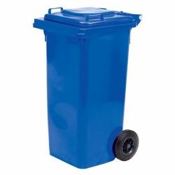 Бак для мусора пластиковый, синий, 120 литров