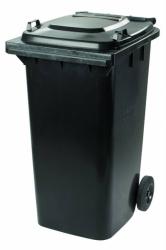 Бак для мусора пластиковый, темно-серый, 120 литров