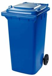 Бак для мусора пластиковый, синий, 240 литров