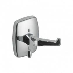 Металлический крючок двойной для одежды и полотенец S-7955
