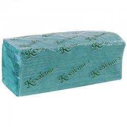 """Бумажные полотенца листовые, макулатурные, зеленые """"Кохавинка"""""""