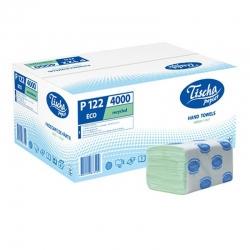 Бумажные полотенца листовые, макулатурные, зеленые, эконом Р122
