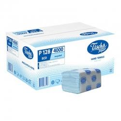 Бумажные полотенца листовые, макулатурные, синие, эконом Р128