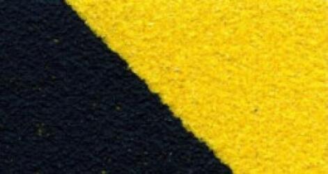 Противоскользящая лента Heskins Черно-Желтая Крупнозернистая. H3402D50